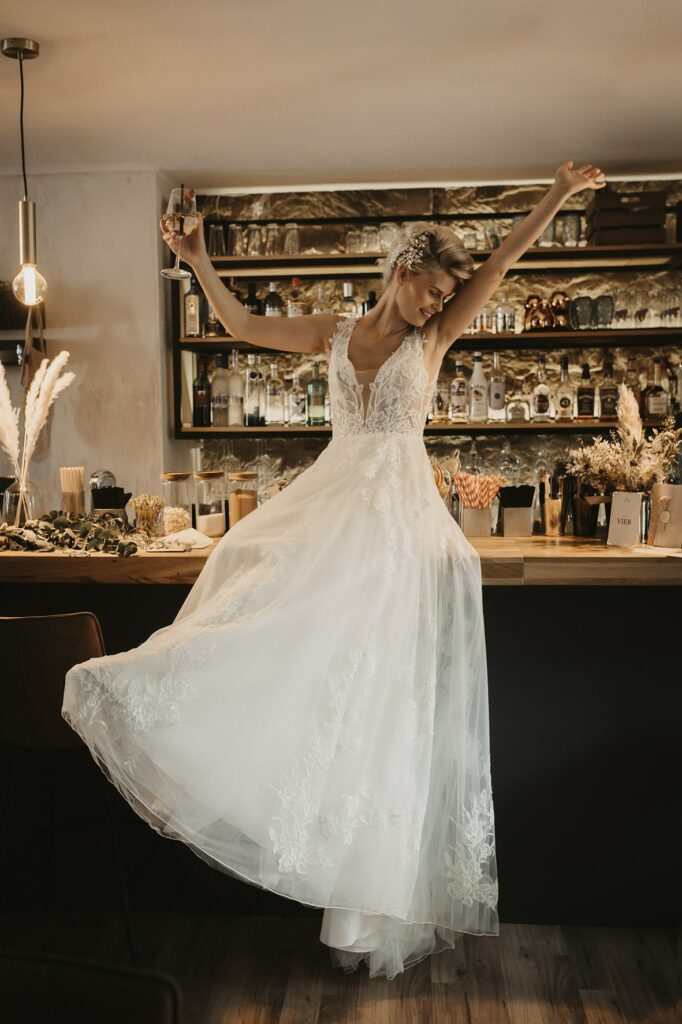 Braut jubelt